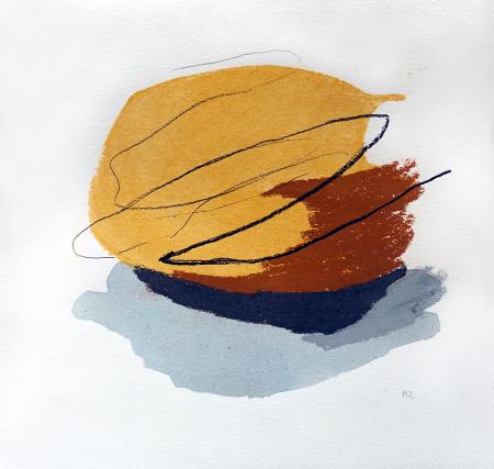 Quadro di Mane Zorraquin Meditazione - mista carta