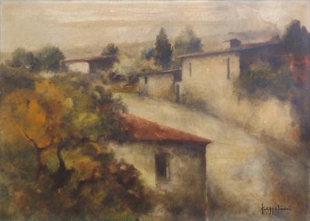 Quadro di Gianfranco Frezzolini Paesaggio - olio tela