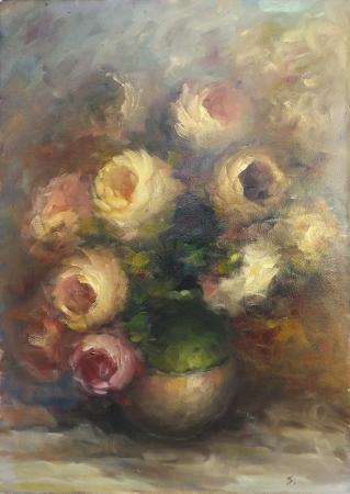 Quadro di Sergio Landi Rose - olio tela
