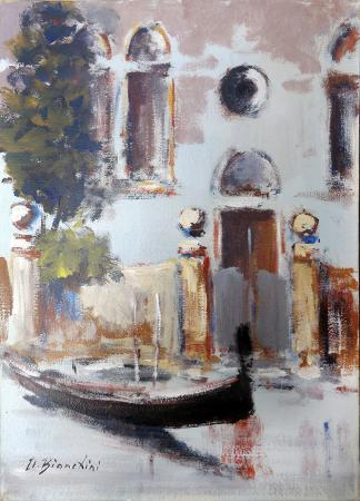 Art work by Umberto Bianchini Venezia - oil canvas