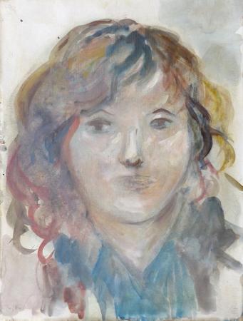 Quadro di Silvio Loffredo Figura femminile - acquerello carta