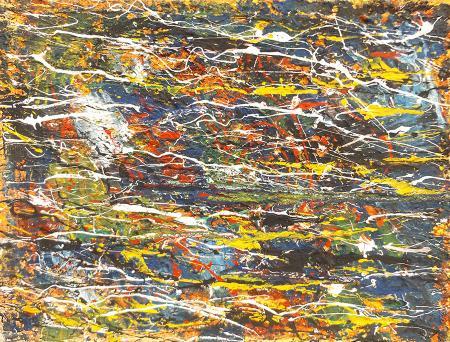 Quadro di Antonio Romagnoli Composizione astratta - olio tavola