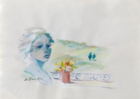 Art work by Umberto Bianchini Balcone - varnish paper