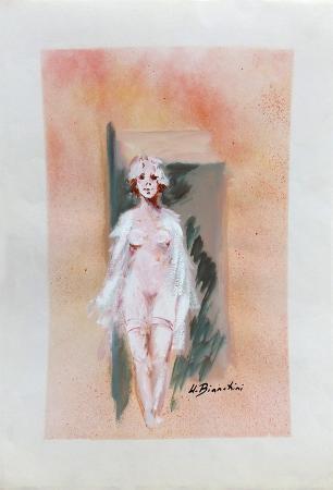Quadro di Umberto Bianchini Sola - tempera carta