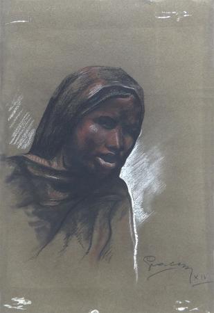 Art work by firma Illeggibile Volto - graphite paper