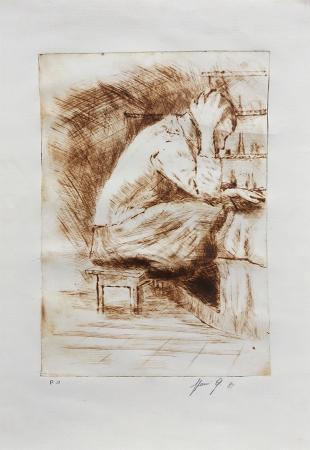 Quadro di Giovanni Sforzi Senza titolo - incisione carta