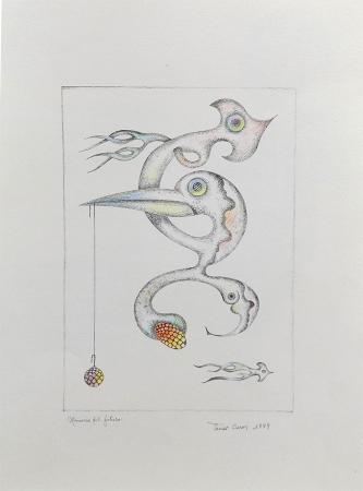 Quadro di Ivano Cerrai Memorie del futuro - litografia carta