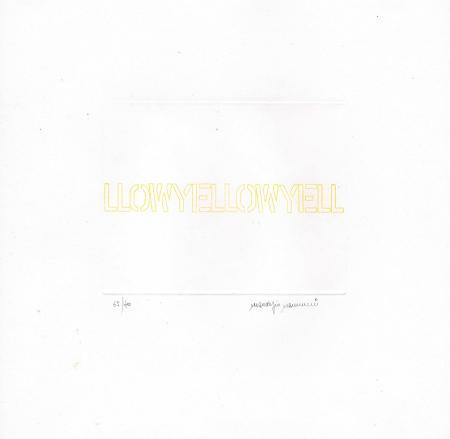 Quadro di Maurizio Nannucci Yellow - incisione carta