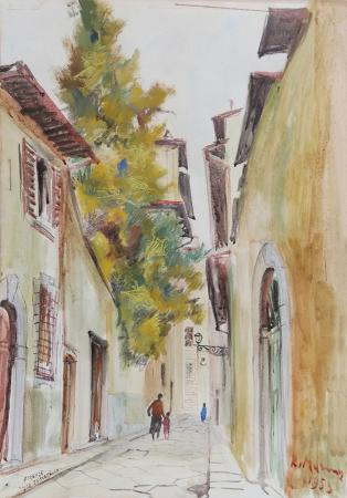 Art work by Rodolfo Marma Via Toscanella, Firenze - watercolor paper