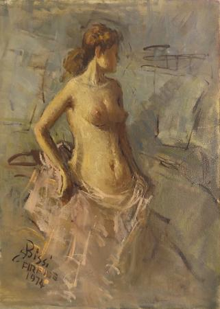 Art work by Sergio Cirno Bissi Nudo di donna - oil canvas