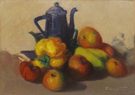 Quadro di Dino Pelagatti Frutta  - olio tavola