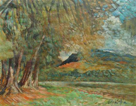 Quadro di Paulo Ghiglia Paesaggio - olio tela