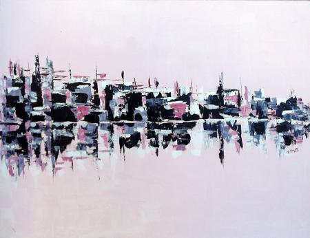Art work by Loredana Rizzetto Riflessi in rosa n.1 - oil canvas