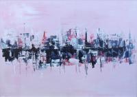 Quadro di Loredana Rizzetto - Riflessi in rosa n.3 acrilico tavola