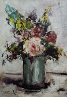 Quadro di Sergio Scatizzi  Vaso di fiori