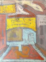 Quadro di Alvaro Baragli - Senza titolo olio tavola