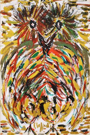 Quadro di Silvio Loffredo Gufo - olio tela
