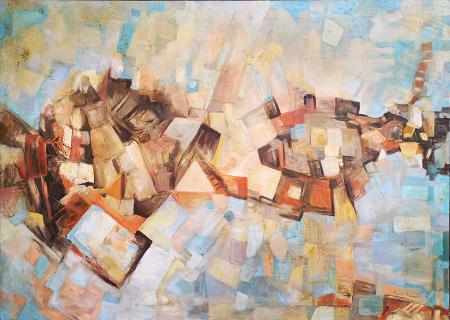 Quadro di Vittorio Calamai Composizione - olio tela