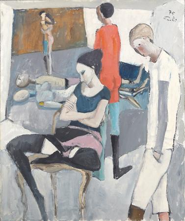 Quadro di Bruno Paoli Teatro - olio tela