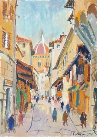 Quadro di Rodolfo Marma Ponte Vecchio - olio tela