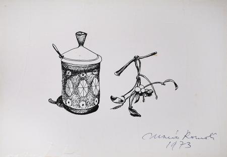 Quadro di Mario Romoli  Composizione  - china carta