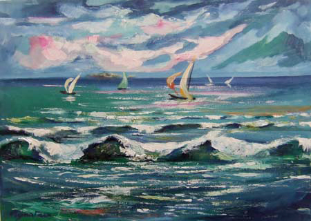 Art work by Luigi Pignataro Mare - oil canvas