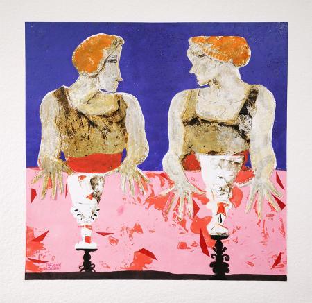 Quadro di Giovanni Maranghi Frida e Cristina - mista carta
