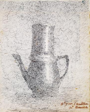 Quadro di Algero Cantini Teiera - penna biro carta