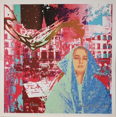 Quadro di Giuseppina Maria Celeste Omaggio al Paiolo con autoritratto - ink jet carta
