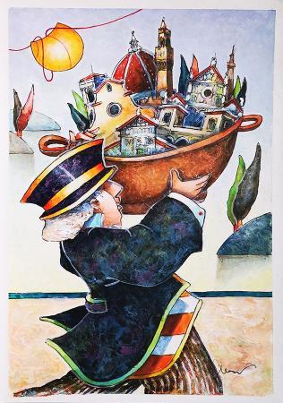 Quadro di Francesco Nesi il Bronzo - mista carta