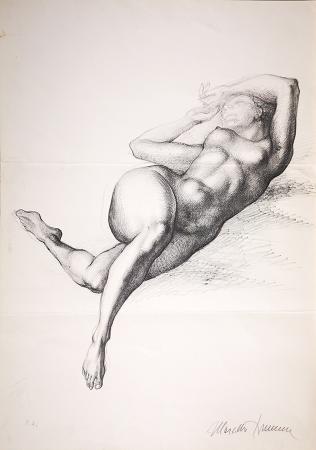 Quadro di Marcello Tommasi Nudo  - litografia carta