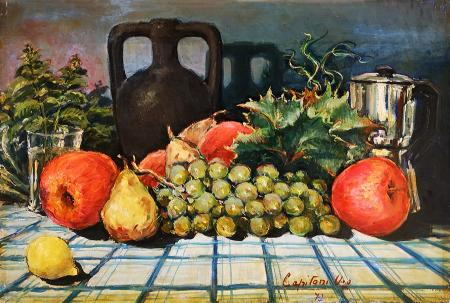 Art work by Ugo  Capitoni Natura Morta con frutta - oil canvas