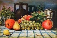 Ugo  Capitoni - Natura Morta con frutta