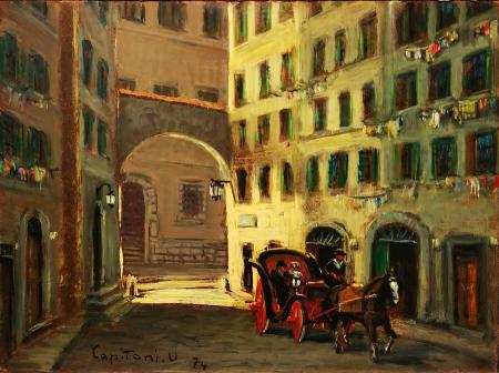 Art work by Ugo  Capitoni Firenze - oil hardboard