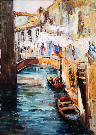 Art work by Norberto Martini Venezia  - oil canvas