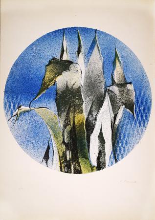 Quadro di Fernando Farulli Pianta - litografia carta