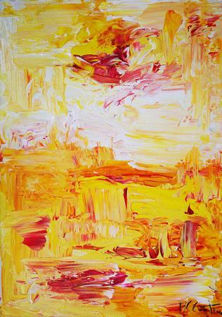 Quadro di Maria Cristina Conti Pomeriggio afoso - mista tela