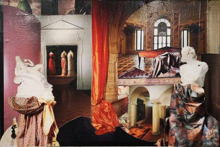 Quadro di Marta  Sarti Senza titolo - collage tela