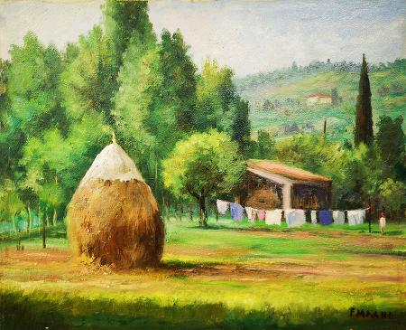 Art work by Fausto Magni Vita di campagna - oil canvas
