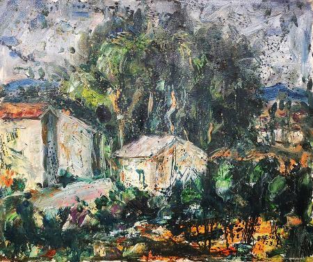 Quadro di Arrigo Dreoni Case - olio tela