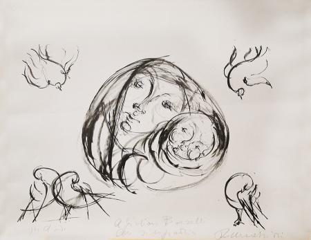 Art work by firma Illeggibile Maternità - lithography paper