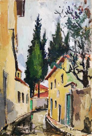 Quadro di Rodolfo Marma Via san Leonardo (casa di Rosai) - olio tela