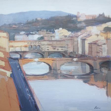Quadro di Claudio Cionini Ponte Santa Trinita - mista cartone