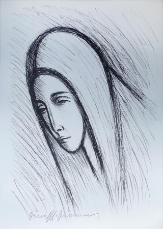 Quadro di Dino Migliorini Madonna - litografia carta