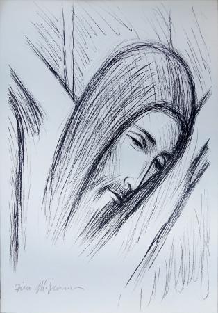 Quadro di Dino Migliorini Cristo - litografia carta