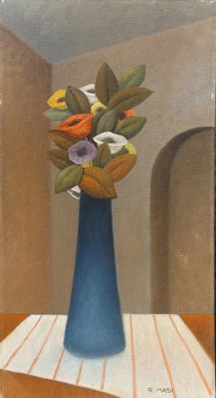 Art work by Roberto Masi Vaso di fiori  - oil canvas