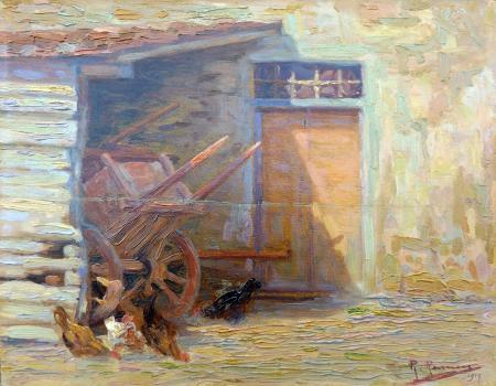 Quadro di Renuccio Renucci Casa di contadino - olio tavola