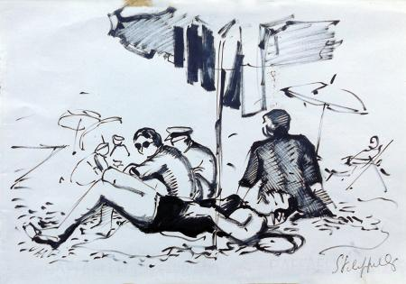 Art work by Cafiero Filippelli Spiaggia - marking pen paper