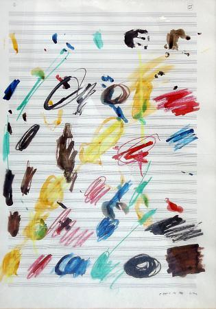 Quadro di Giuseppe Chiari Composizione musicale - mista carta