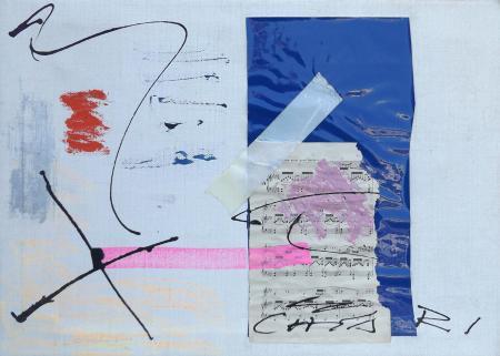 Art work by Giuseppe Chiari Quasi andante - mixed canvas